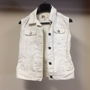 Cream colored Jean vest